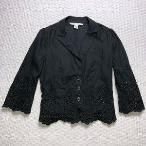 Diane von Furstenberg Black Blazer Jacket. Sz6